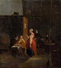 taverneninterieur mit stehender dame by jan steen