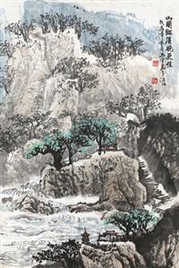 山水 立轴 水墨纸本 by lin yuyu