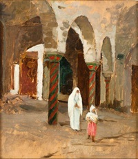 retour du hammam (tunis) by albert aublet