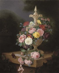 a bouquet of roses by adriana van ravenswaay
