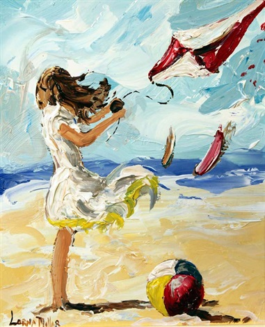 flying a kite by lorna miller