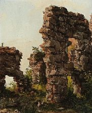 view with ruins by jacob julius holck