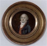 portrait d'un conventionnel en habit bleu, gilet rouge et cravat blanche by étienne-louis advinent