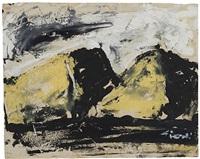 montagne gialle by mario sironi