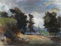 kurrajong landscape by geoffrey keith townshend