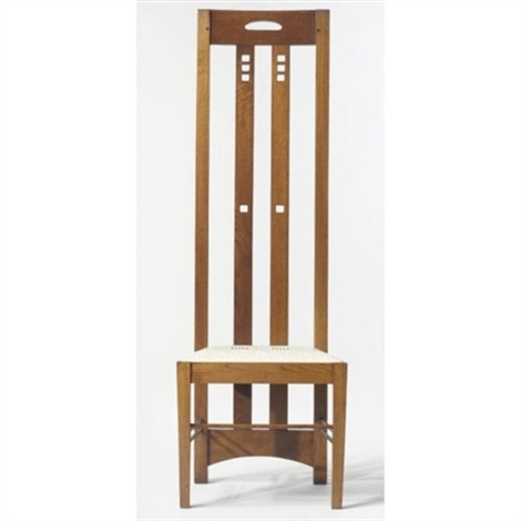 High Back Chair From The White Dining Room Of Miss