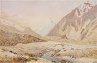 the first hermitage, mt cook by christopher aubrey