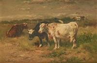 vaches à la barrière by henry schouten