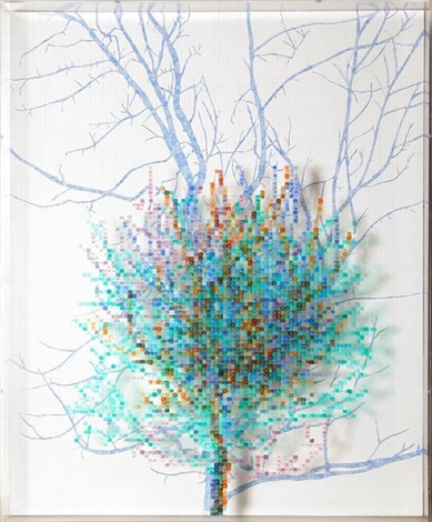 numbers and trees ii, no.4 spike by charles gaines