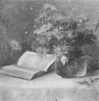 flowers and book by lydia m. b. hubbard