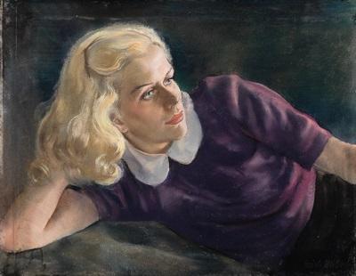 bildnis eines mädchens mit blonden locken by erich miller von hauenfels