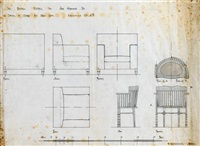 design for an upholstered chair and a spindle chair by anonymous-scottish (20)