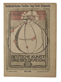 cover of deutsche kunst und dekoration, may by margaret macdonald mackintosh