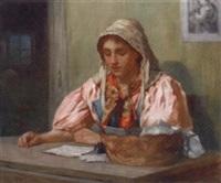 a breton girl by norman m. macdougall