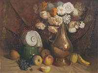 untitled (still life of fruit and flowers) by justin maurice o'brien