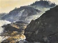 rocky coastal scene by andrew winter