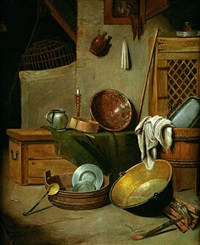 nature morte aux ustensiles de cuisine by paul van den bosch