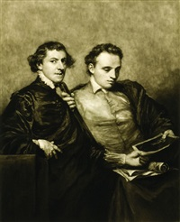 portrait of two gentleman (after sir joshua reynolds) by frank short