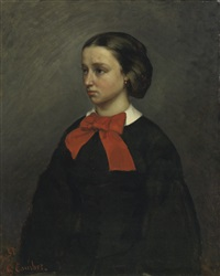 mademoiselle jacquet by gustave courbet