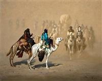 chamelier dans le désert by hocine ziani