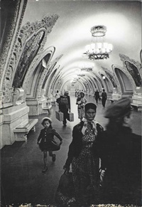 underground station, moscow by william klein