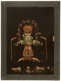 illuminations du bazar de l'hôtel de ville. paris by léon gimpel