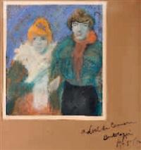 deux femmes by salvador bartolozzi