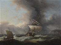 a frigate off the coast by thomas luny