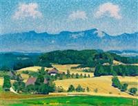 sommerliche landschaft auf der oschwand by bruno hesse