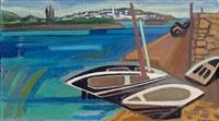 barques à quai by françoise gilot