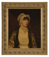 portrait of a lady dressed in white by john opie