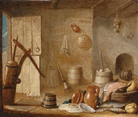 a barn still life by hendrick van steenwyck the younger
