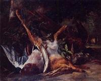 nature morte aux canards, lièvre et faisan by auguste aristide fernand constantin