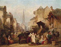 market day by henry courtney selous