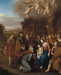 the adoration of the magi by johan van haensbergen