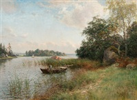 summer view from itä-uusimaa archipelago by berndt adolf lindholm