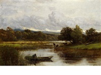 water landscape by sir ernest albert waterlow