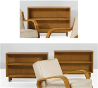 bookcases, model no. 104 (set of 3) by alvar aalto