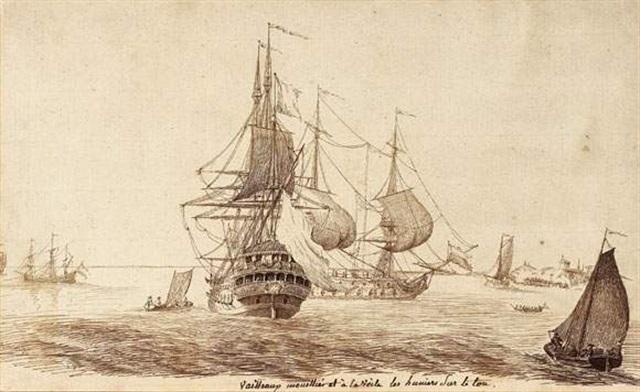 vaisseaux mouillés et à la voile by jacques rigaud