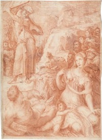 moses und das goldene kalb by domenico beccafumi