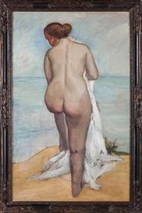 nu féminin en bord de mer by rodolfo alcorta