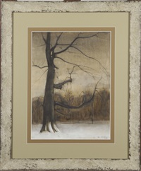 vieil arbre sous la neige by joseph albert