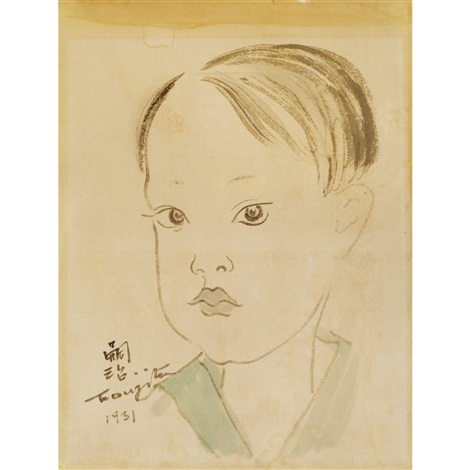 portrait of timothy osato by léonard tsuguharu foujita
