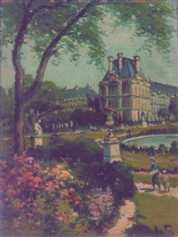 louvre et les tuileries by louis battin