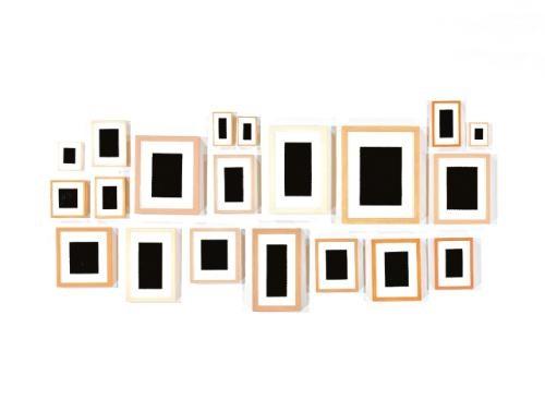 twenty plaster surrogates in 20 parts various sizes by allan mccollum