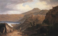 genzano on lake nemi by john (newbott) newbolt