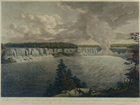 a distant view of the falls of niagara by john vanderlyn