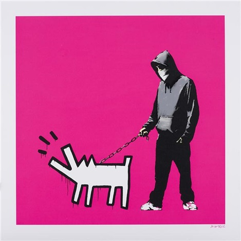 choose your weapon magenta by banksy