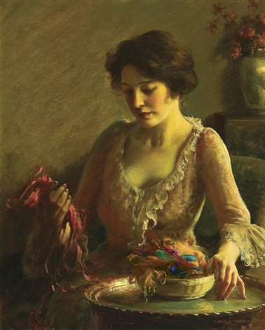 choosing the colors by charles courtney curran