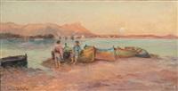 pêcheurs devant toulon by maurice dainville